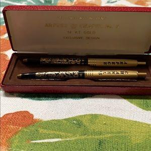 Arpege Chanel No. 5 writing pens